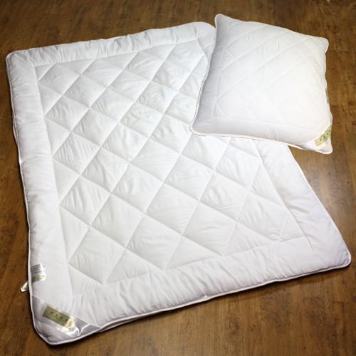 komplettset 4 jahreszeitenbett 2 gr en 80x80cm kissen ebay. Black Bedroom Furniture Sets. Home Design Ideas