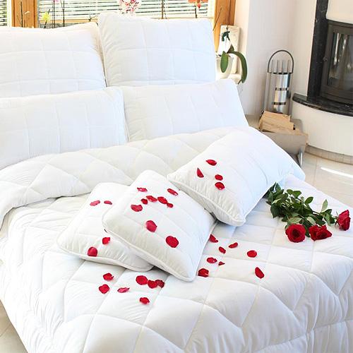 4 jahreszeiten synthetik betten und kissen verschiedene gr en wow ebay. Black Bedroom Furniture Sets. Home Design Ideas