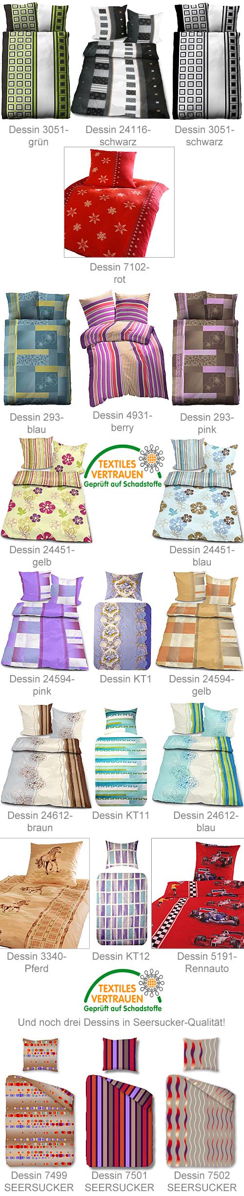 feinste mikrofaser bettw sche 135x200cm 80x80cm 21. Black Bedroom Furniture Sets. Home Design Ideas