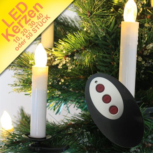 led kerzen kabellos weihnachtskerzen funk lichterkette christbaum inkl batterie ebay. Black Bedroom Furniture Sets. Home Design Ideas